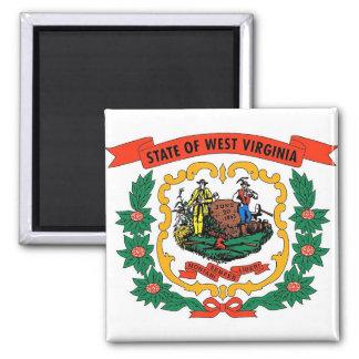 Imán con la bandera del estado de Virginia Occiden