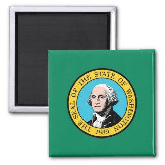 Imán con la bandera del estado de Washington - los