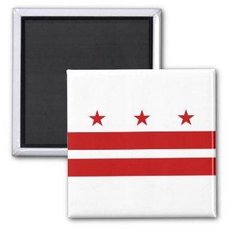 Imán con la bandera del Washington DC - los E.E.U.