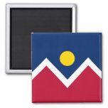 Imán con la bandera estado de Denver, Colorado - l