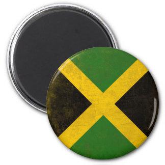 Imán con la bandera sucia de Jamaica