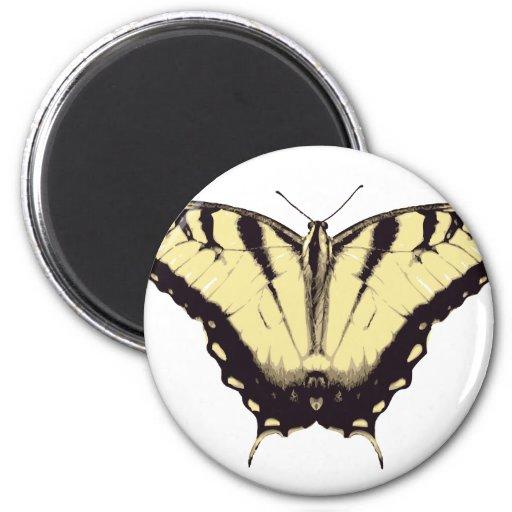 Imán con la mariposa amarilla