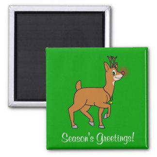 Imán con la nariz roja del reno del navidad