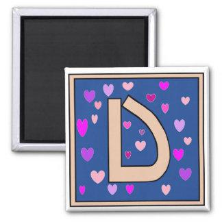 Imán con monograma amelocotonado de D-Just