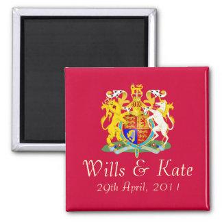 Imán conmemorativo del boda real (rojo)