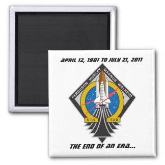 Imán conmemorativo del programa del transbordador