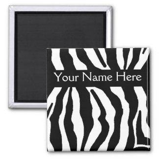 Imán conocido personalizado estampado de zebra