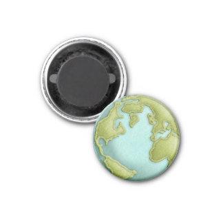 Imán cosido 3D del modelo de la tierra