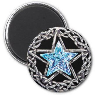 Imán cristalino de la estrella del Pentagram