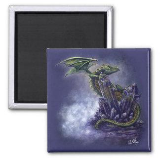 Imán cristalino del dragón del arte de la fantasía