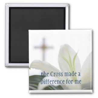 Imán cruzado cristiano de la cita