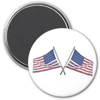 Imán cruzado de las banderas americanas