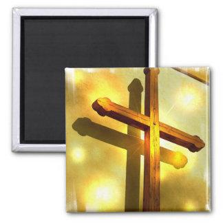 Imán cruzado de oro