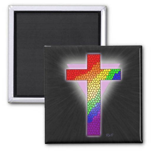 Imán cruzado del arco iris