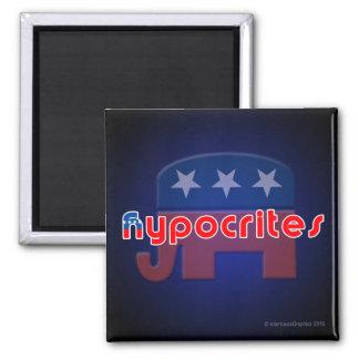 Imán cuadrado de los hipócritas Anti-Republicanos