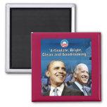 Imán cuadrado de Obama Biden
