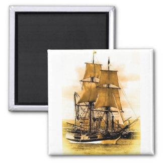 Imán cuadrado del barco pirata 2