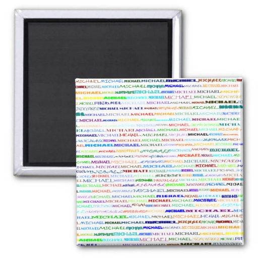 Imán cuadrado del diseño II del texto de Michael