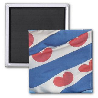 Imán cuadrado del refrigerador de la bandera del F