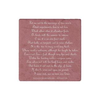 Imán cuadrado del soneto 116 de Shakespeare Imán De Piedra