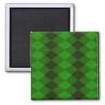 Imán cuadrado verde de Argyle