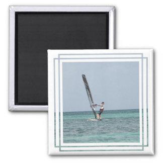 Imán cuadrado Windsurfing de los fundamentos
