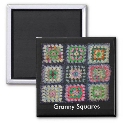 Imán - cuadrados de la abuelita