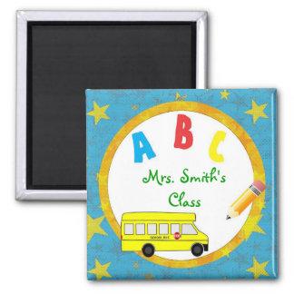 Imán D2 del profesor del autobús escolar de la tur