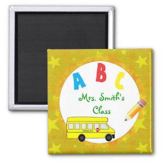 Imán D2 del profesor del autobús escolar del oro a