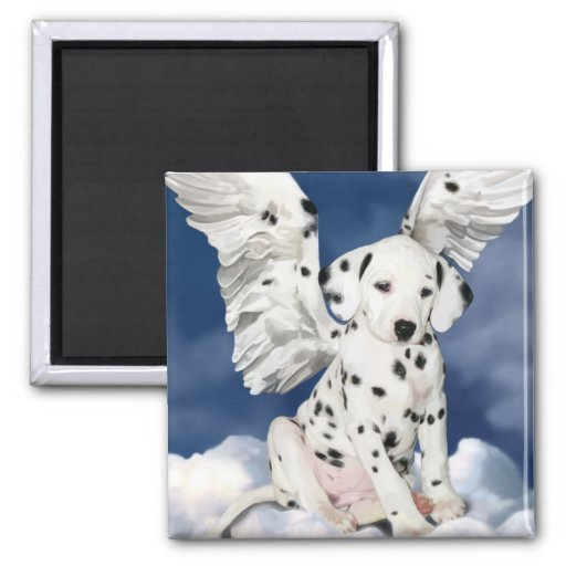 Imán dálmata del ángel del perrito