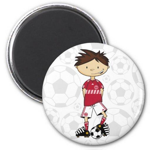 Imán danés del muchacho del fútbol