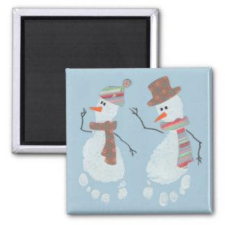 Imán de 2 muñecos de nieve