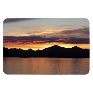 Imán de Alaska del premio de la puesta del sol