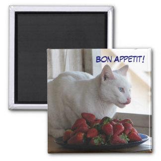 ¡Imán de Appetit del Bon! Imán Cuadrado