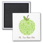 Imán de Apple del verde del profesor de la educaci