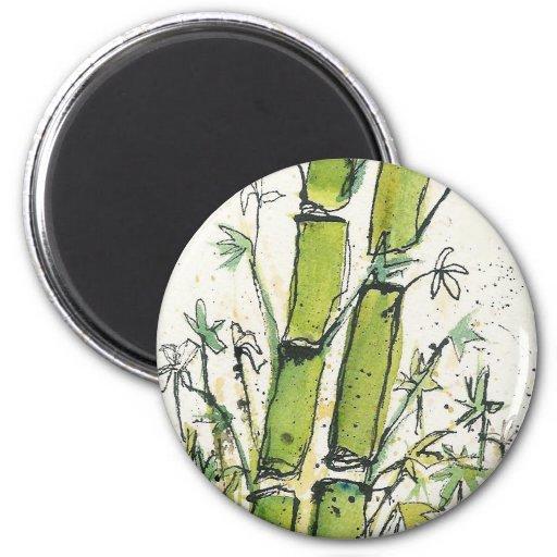 Imán de bambú