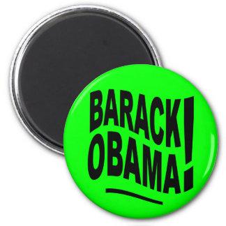 Imán de Barack Obama de la verde lima
