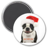 Imán de Boston Terrier Santa