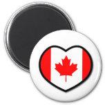 Imán de Canadá del corazón