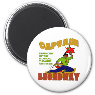 Imán de capitán Broadway (piel de lite)