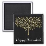 Imán de Chanukah del árbol del oro
