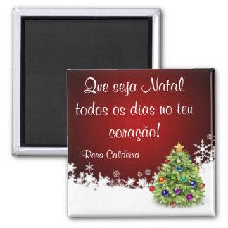 Iman de Christmas 1 2 Inch Square Magnet