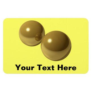 Imán de cobre amarillo del premio de las bolas