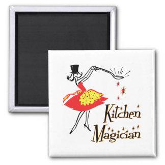 Imán de cocinar retro del arte del mago de la coci