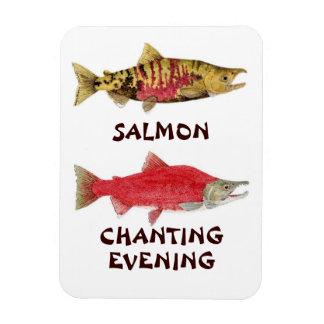 Imán de color salmón de la tarde el cantar