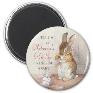 Imán de consumición del personalizado del té del c