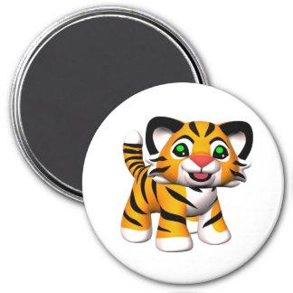 imán de Cub de tigre del dibujo animado 3D