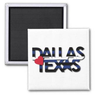 Imán de cuero de la raya de Dallas