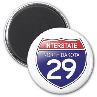 Imán de Dakota del Norte de la autopista 29