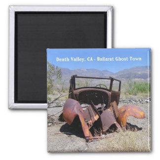 ¡Imán de Death Valley/del pueblo fantasma de Balla Imán Cuadrado
